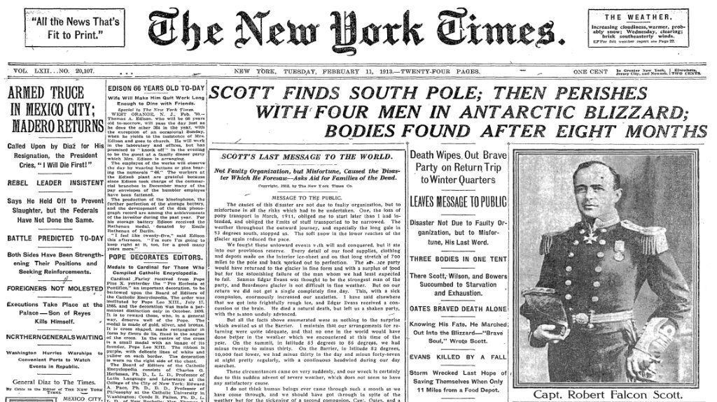 1913-february-11-scott-finds-south-pole-north-york-times